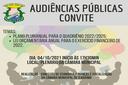 Audiência Pública - Plano Plurianual do Quadriênio 2022/2025 e Lei Orçamentária Anual de 2022.