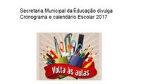 EDUCAÇÃO 2017 – CRONOGRAMA
