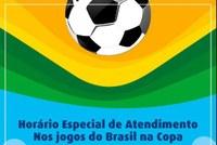 Horário de Expediente da Câmara Municipal nos dias dos jogos da Seleção Brasileira.